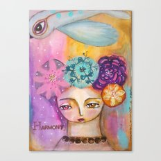 Harmony- inspirational art girl Canvas Print