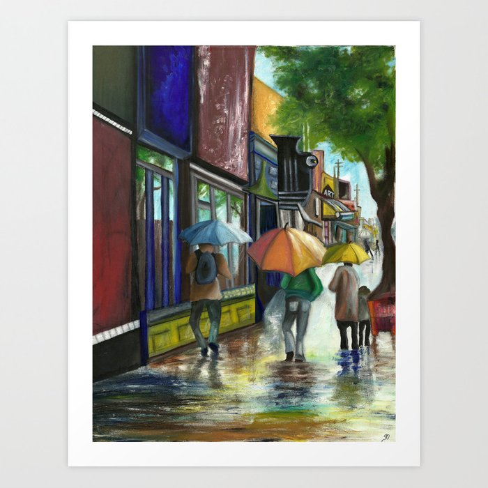 Have you ever seen it rain, on a sunny day Art Print