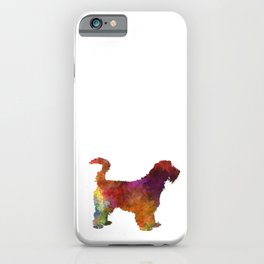 Grand Griffon Vendeen in watercolor iPhone Case
