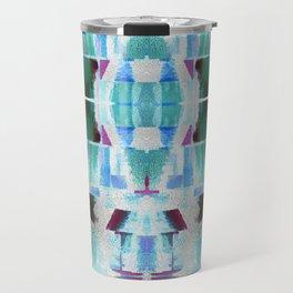 Babalon - Abstract Geometry Teal Travel Mug
