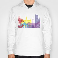 brussels Hoodies featuring Brussels skyline pop by Paulrommer