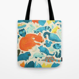 Wildlife Collage Woodland Creatures and Cute Animals Tote Bag