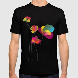 Abstract summer wildflowers T-shirt