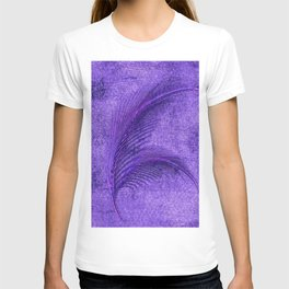 Fern Deep Purple Autumn and Winter T-shirt