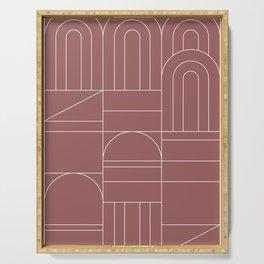 Deco Geometric 04 Dark Pink Serving Tray
