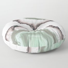 Light Water Agate Floor Pillow