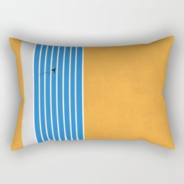 Finish Line | Aerial Illustration Rectangular Pillow