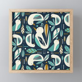 Feathered Flock Framed Mini Art Print