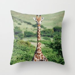 Giraffe Standing tall Throw Pillow