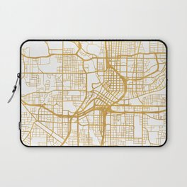 ATLANTA GEORGIA CITY STREET MAP ART Laptop Sleeve