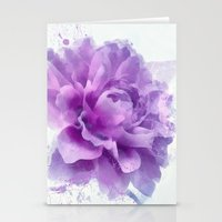 dahlia Stationery Cards featuring Dahlia by Ciro Design