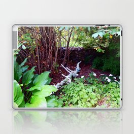 Painted Log in Garden Laptop & iPad Skin