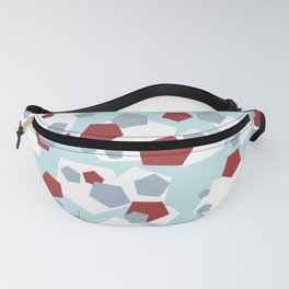 Geometric Mix Rectangle red Fanny Pack