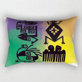 Los cuatro elementos precolombinos Rectangular Pillow
