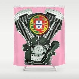 Portuguese pure evol hot  pink Shower Curtain