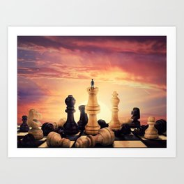 the rise of a chess player Art Print