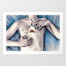 Between Two Lungs Art Print