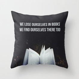 Books Throw Pillow