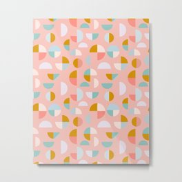 Playful Geometry Metal Print