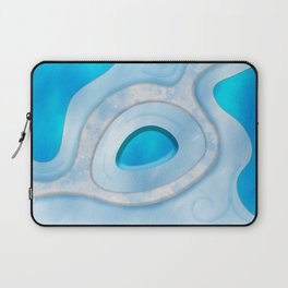 Blue Layers and Curves Laptop Sleeve