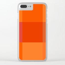 Orange palette Clear iPhone Case