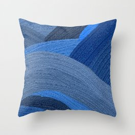 Shadesmultiblue Throw Pillow