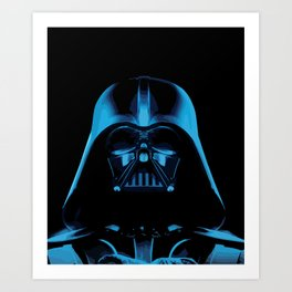 The Dark Vader, Star Wars Tribute Art Print