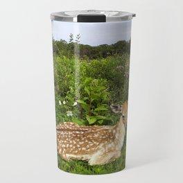 Fawn and Wildflowers Travel Mug