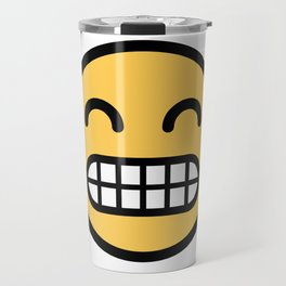 Smiley Face   Grinning Full Teeth Tooth Face Travel Mug