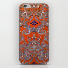 Painted Tibetan Brocade orange iPhone Skin