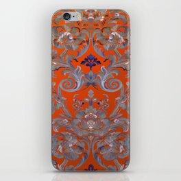 Painted Tibetan Brocade orange iPhone Skin