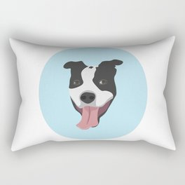 Smiley Pitbull Rectangular Pillow