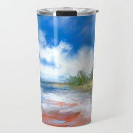 Summer Lake landscape Travel Mug