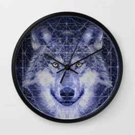 Wolf Geometry Wall Clock