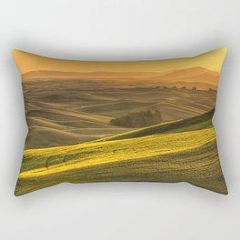 Golden Grains Rectangular Pillow