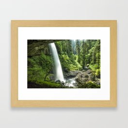 Looking Out From Under North Falls Framed Art Print