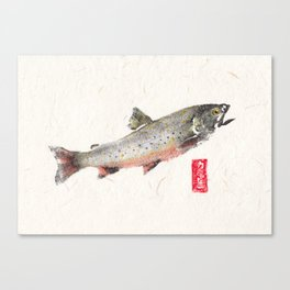 Brook Trout in Spawning colors-Gyotaku Canvas Print