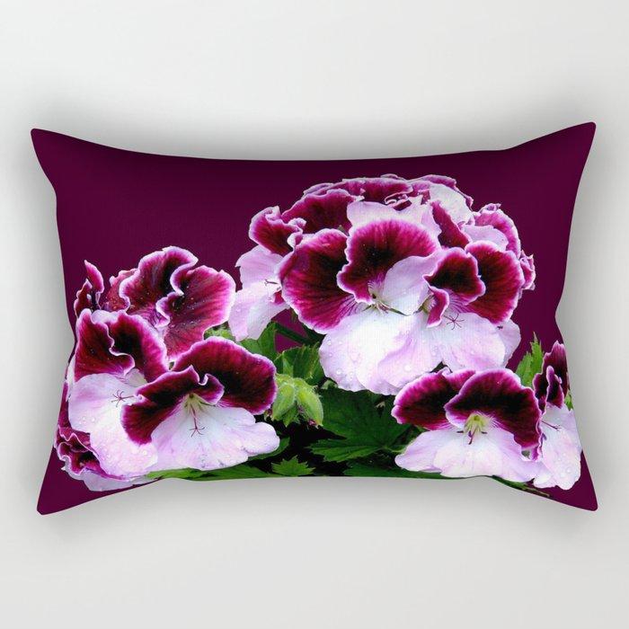 Pink, Purple, Flower Power Rectangular Pillow