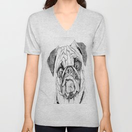 Pugs Not Drugs Unisex V-Neck