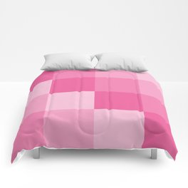 Four Shades of Pink Square Comforters