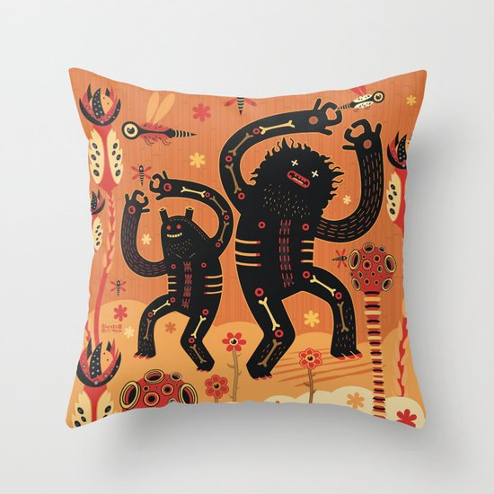 Les danses de Mars Throw Pillow