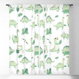 Dinosaur Mini - Green Blackout Curtain