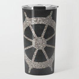 Nautical Silver Wheel Travel Mug