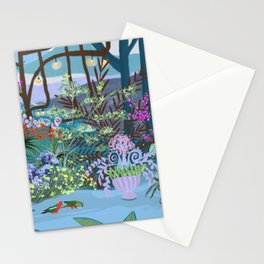 Parrots in the garden Stationery Cards