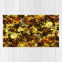 Solid Gold - Abstract, metallic gold textured pattern by printpix