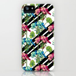 Flowers & Strips iPhone Case
