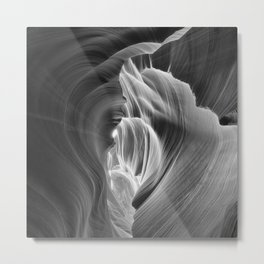 It's Black & White Antelope Canyon Metal Print