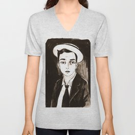 Buster Keaton per un'amica Unisex V-Neck