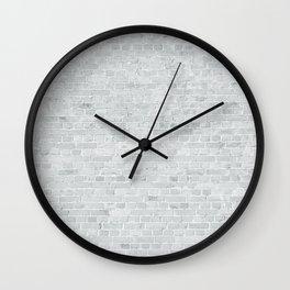 White Washed Brick Wall Stone Cladding Wall Clock