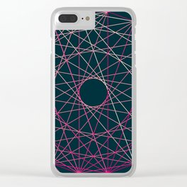 Red Threads in Blue Clear iPhone Case